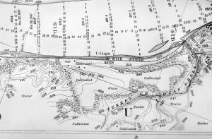 1908 River Survey Map