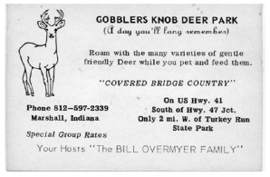 Free pass to Gobblers Knob Deer Park