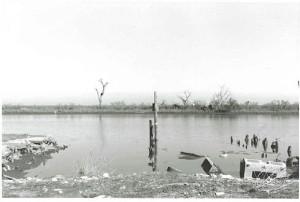 Main boathouse of Jeanfreaux's after Katrina.