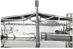 Main boathouse of Jeanfreaux's in May 2001.